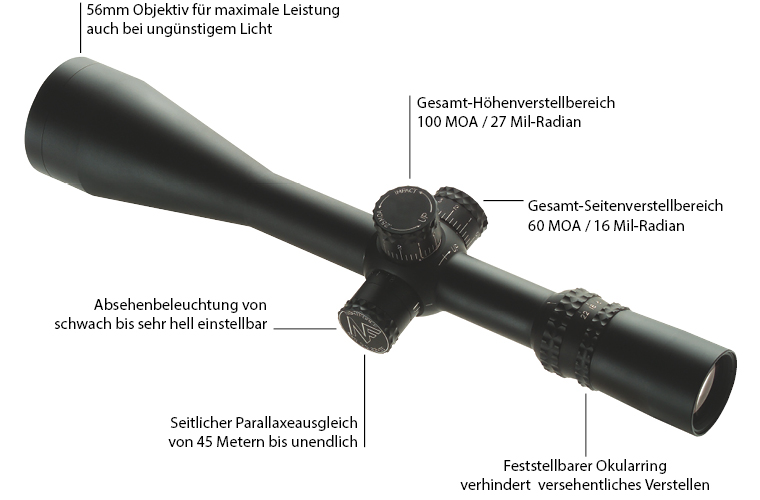 Nightforce NXS 5,5-22x56 ohne ZeroStop